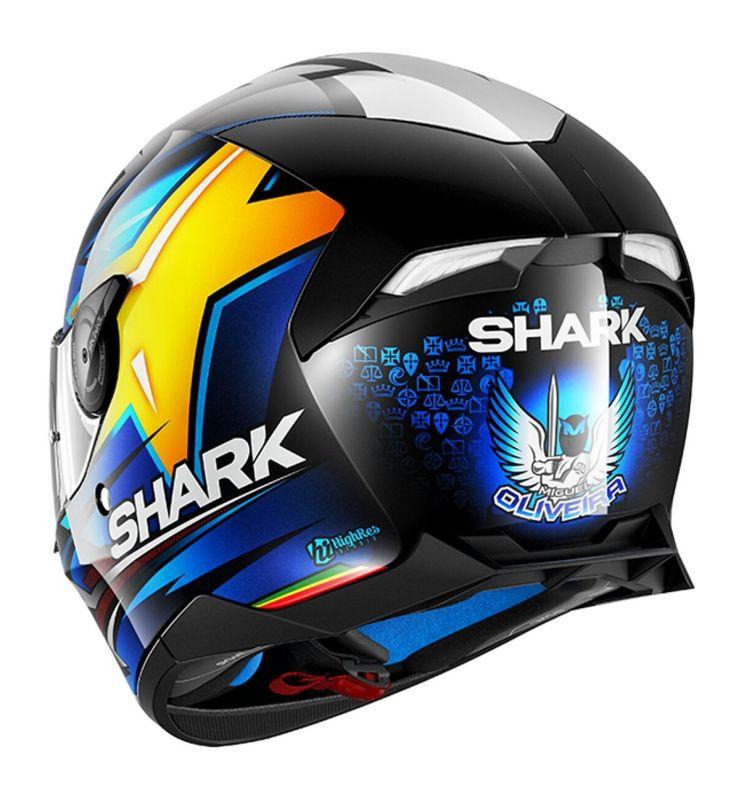 Casque Intégral Shark Skwal 2 Réplica Oliveira Noirbleujaune