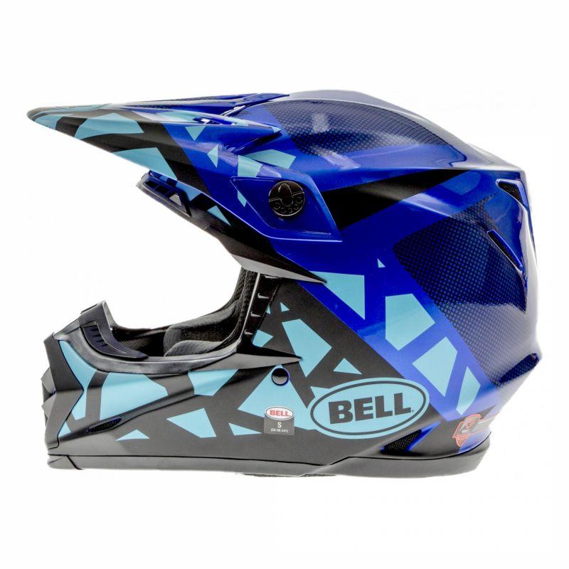 Casque cross Bell Moto-9 Mips Tremor bleu/noir - 1
