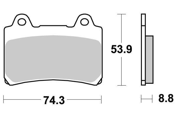 plaquettes de frein sbs c ramique 613hf pi ces freinage sur la b canerie. Black Bedroom Furniture Sets. Home Design Ideas