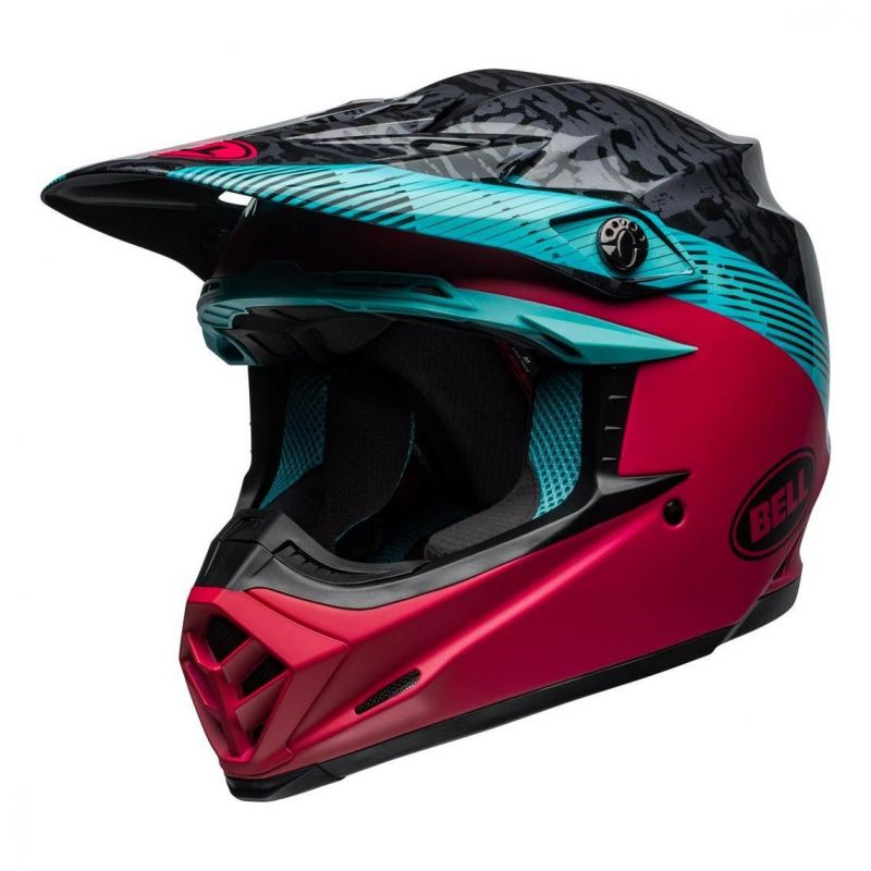 Casque cross Bell Moto-9 Mips Chief noir/rose/bleu