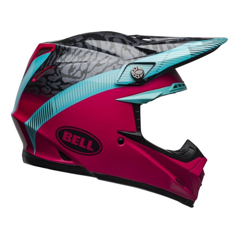 Casque cross Bell Moto-9 Mips Chief noir/rose/bleu - 4