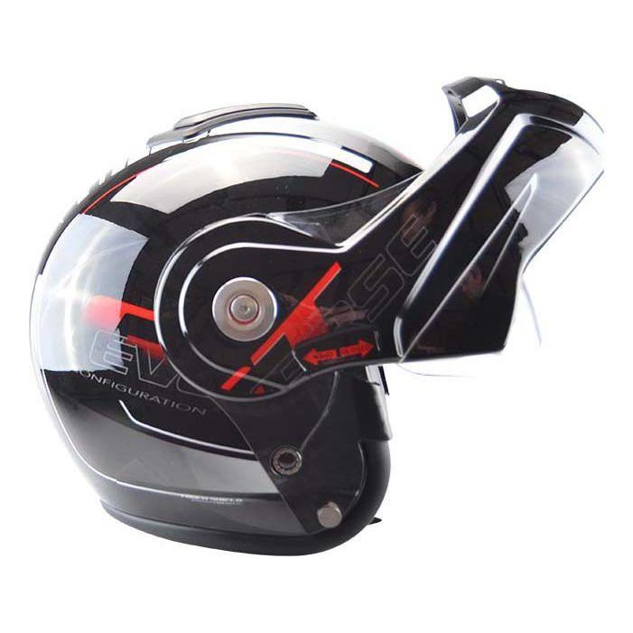 Casque modulable T-705 Reverse noir / rouge