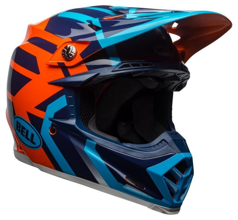 Casque cross Bell Moto 9 Mips Gloss bleu/orange district - 7