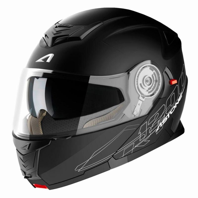 Casque Modulable Astone Rt 1200 Mono Noir Mat Casques Moto Sur La