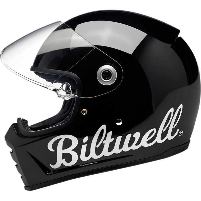 Casque intégral Biltwell Lane Splitter Factory noir brillant - 3