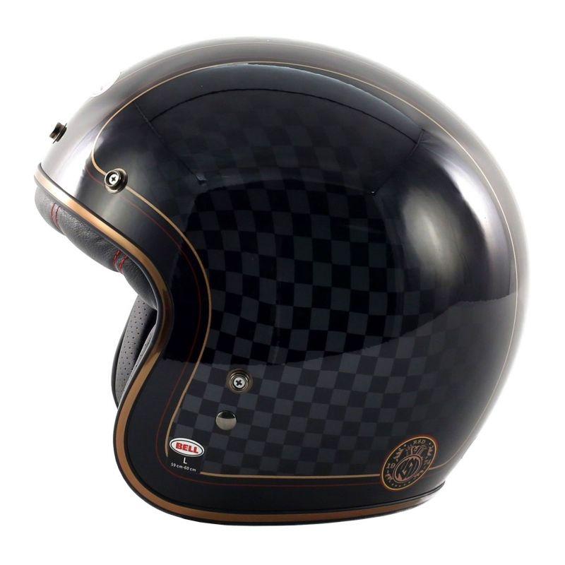 casque jet bell custom 500 roland sands check it casques moto sur la b canerie. Black Bedroom Furniture Sets. Home Design Ideas
