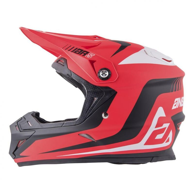 Casque cross Answer AR5 Pulse rouge/blanc - 1