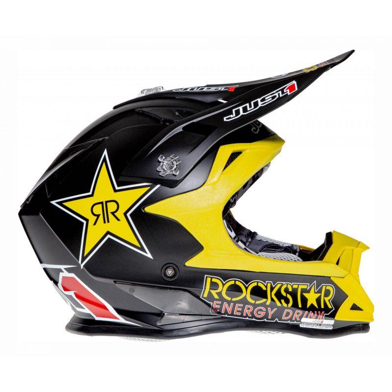 Casque cross Just1 J32 Rockstar noir mat - 2