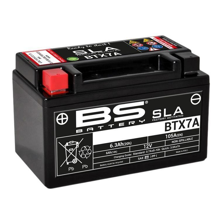 Batterie BS Battery BTX7A 12V 6,3Ah SLA activée usine