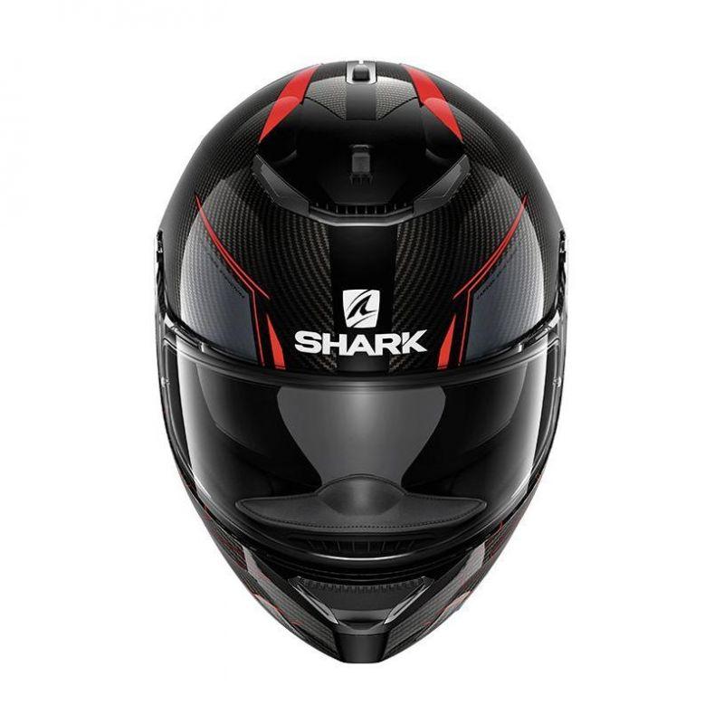 casque int gral shark spartan carbon silicium carbone rouge anthracite casques moto sur la. Black Bedroom Furniture Sets. Home Design Ideas