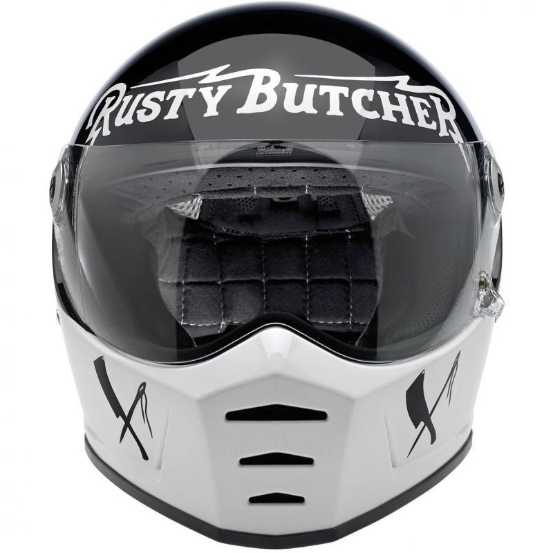 Casque intégral Biltwell Lane Splitter Rusty Butcher noir/blanc - 3