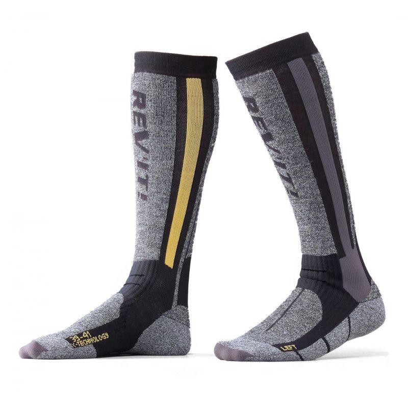 Sous vêtements hivers Alpinestars RIDE TECH WINTER Chaussettes-rev-it-winter-touring-gris-jaune