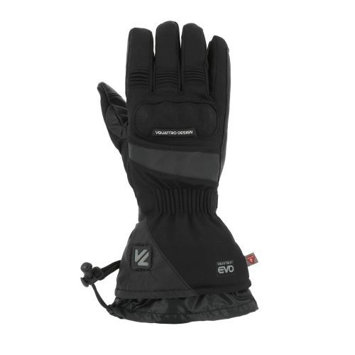 Gants cuir/textile chauffants V'Quattro Alpha 18 Heating noir