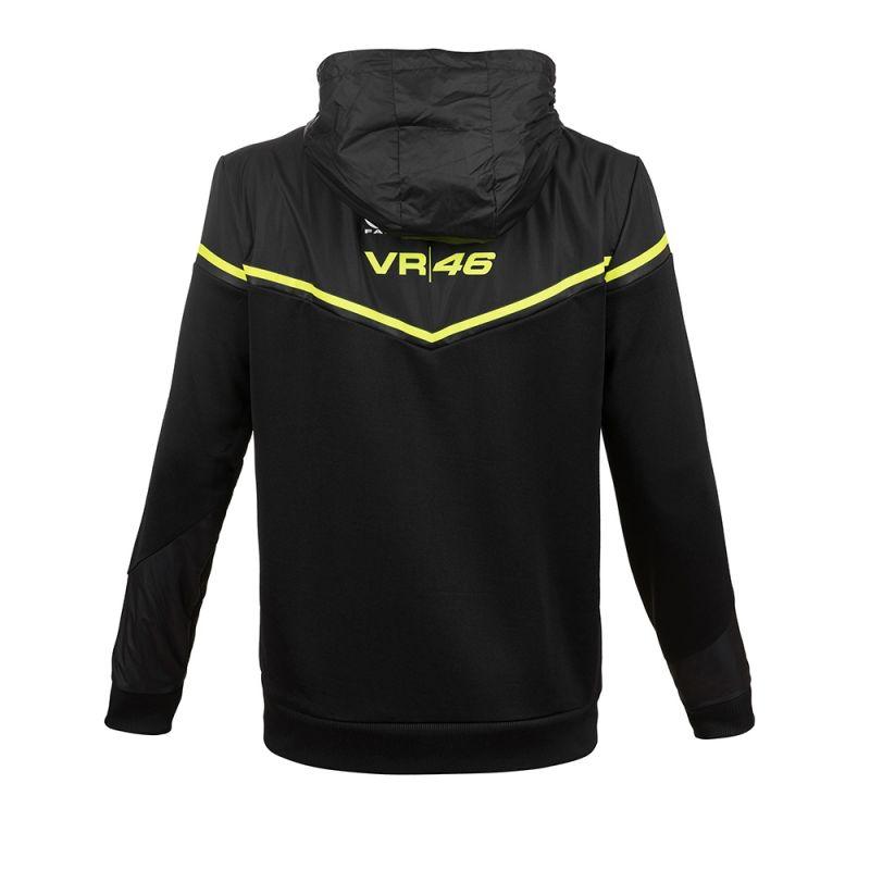 Sweat zip capuche VR46 Valentino Rossi Yamaha noir 2018 - 1