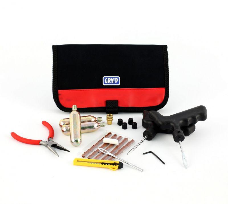 kit de r paration pneu gryyp avec sacoche outillage main sur la b canerie. Black Bedroom Furniture Sets. Home Design Ideas