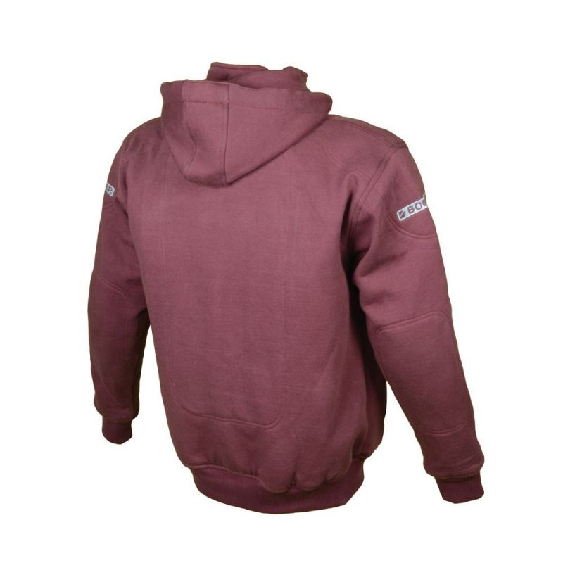 sweat capuche booster hoodie kevlar core bordeaux quipement route sur la b canerie. Black Bedroom Furniture Sets. Home Design Ideas