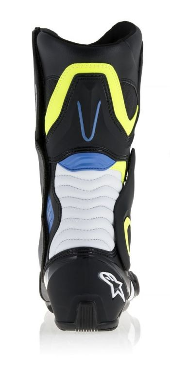 Bottes Alpinestars SMX-6 V2 blanc/jaune fluo/bleu - 6