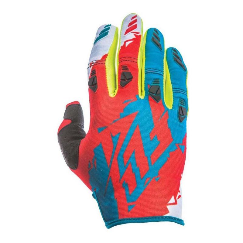 Gants cross Fly Racing Kinetic rouge/bleu