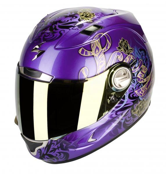 casque int gral scorpion exo 1000 air preciosa violet m tal noir type e11 pi ces casques moto. Black Bedroom Furniture Sets. Home Design Ideas