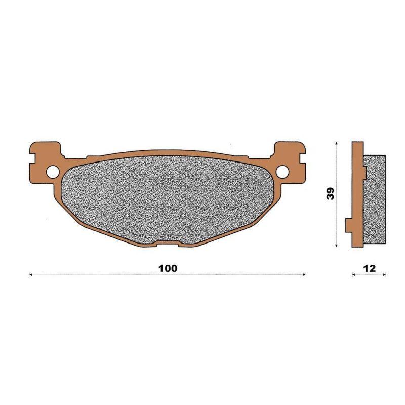 plaquette de frein c ramique arri re t max 500 530 pi ces freinage sur la b canerie. Black Bedroom Furniture Sets. Home Design Ideas