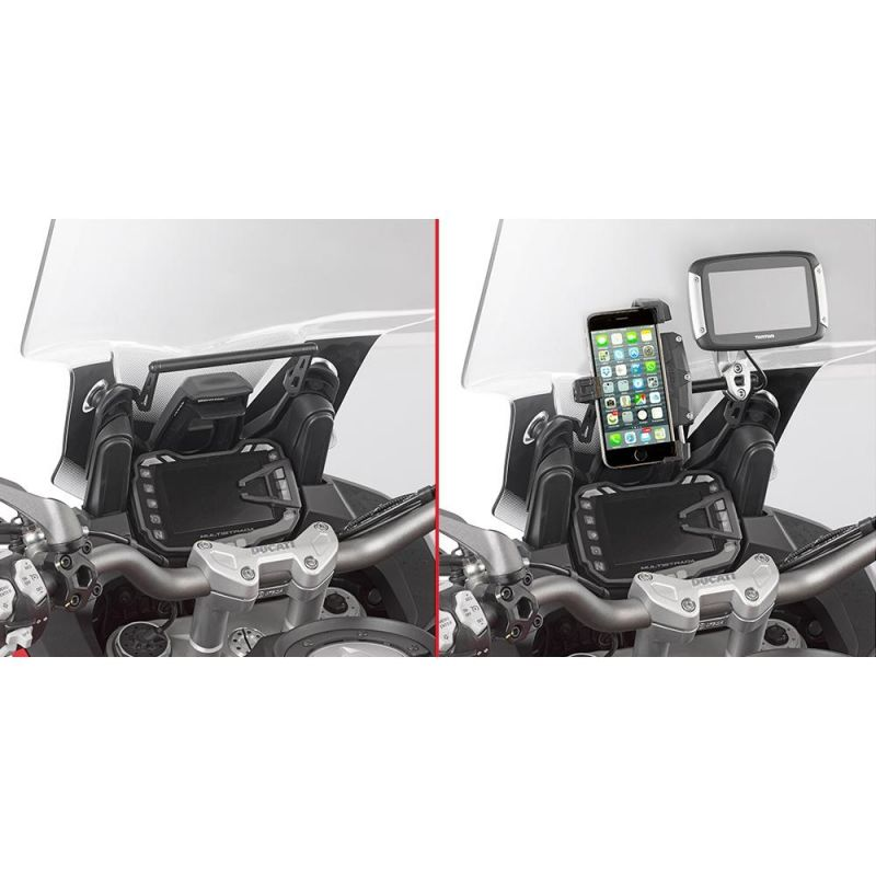 ch ssis pour support gps smartphone givi ducati 1200 multistrada enduro 16 17 pi ces bagagerie. Black Bedroom Furniture Sets. Home Design Ideas
