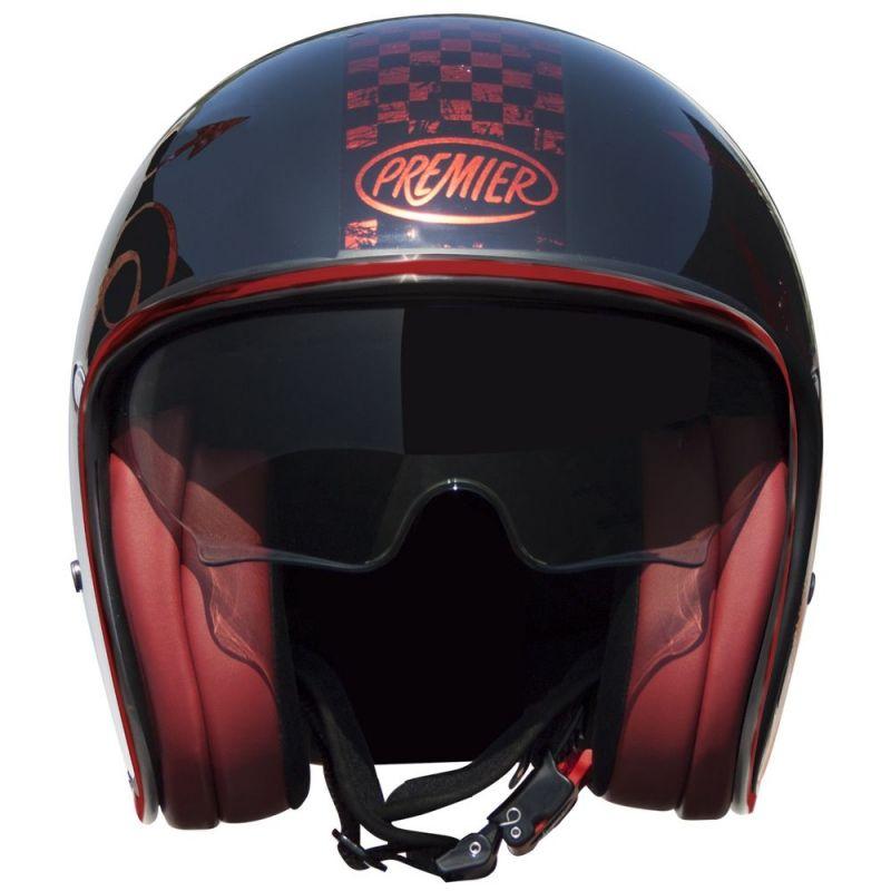 casque jet premier vintage nx rouge chrome casques moto sur la b canerie. Black Bedroom Furniture Sets. Home Design Ideas