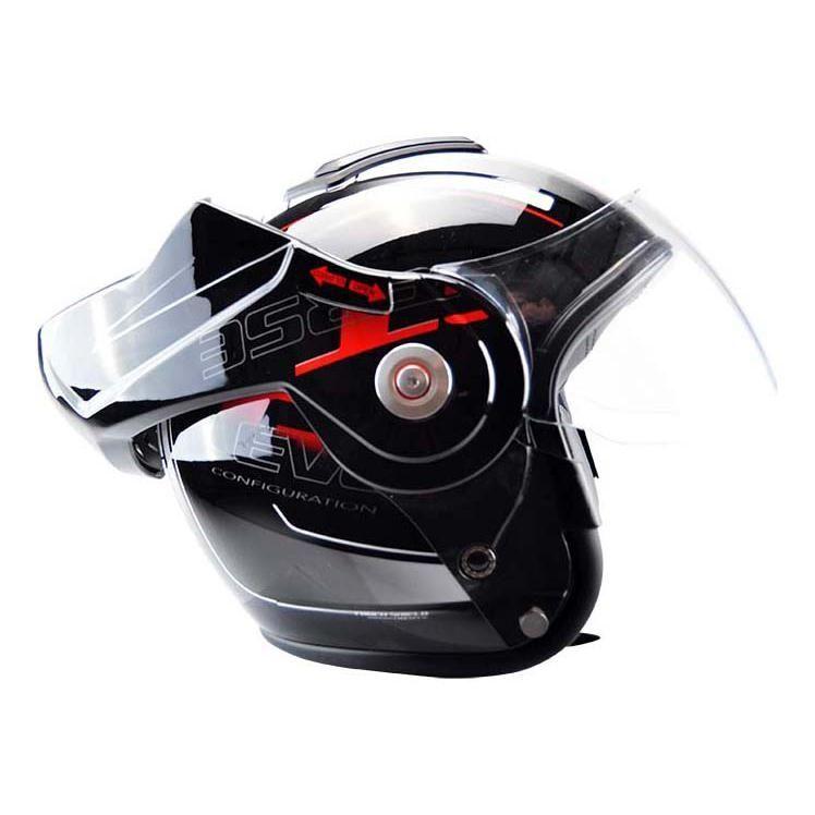 Casque modulable T-705 Reverse noir / rouge - 2