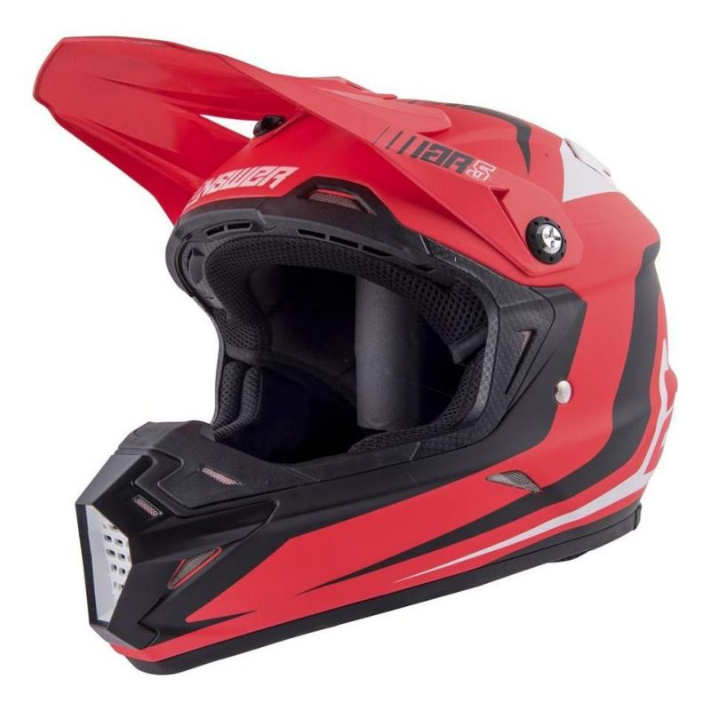 Casque cross Answer AR5 Pulse rouge/blanc