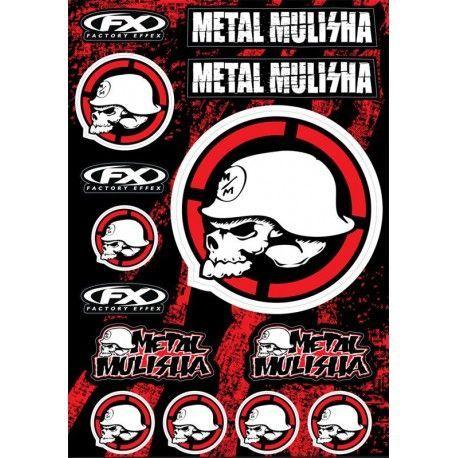 Kit déco autocollants Metal Mulisha 14 pièces