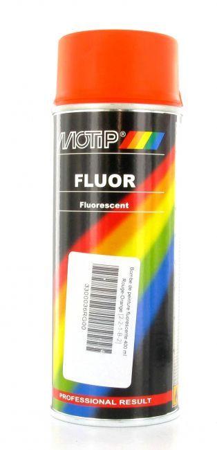 Bombe peinture rouge-orange fluorescente Motip 400 ml