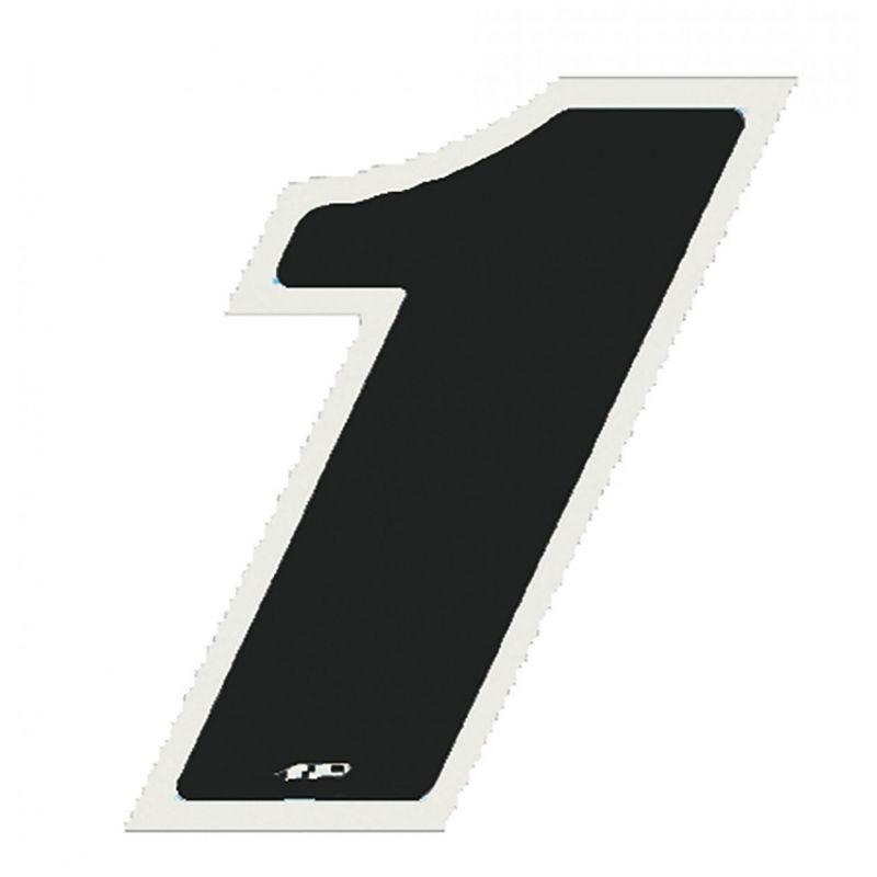 Autocollant numéro 1 noir 13 cm