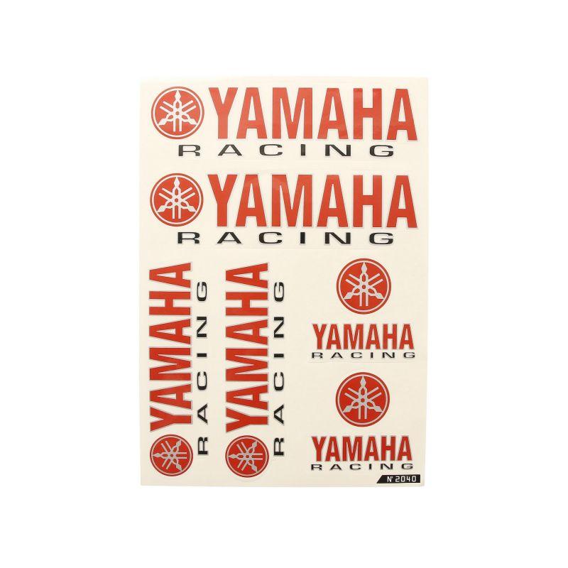 Planche autocollant racing Yamaha