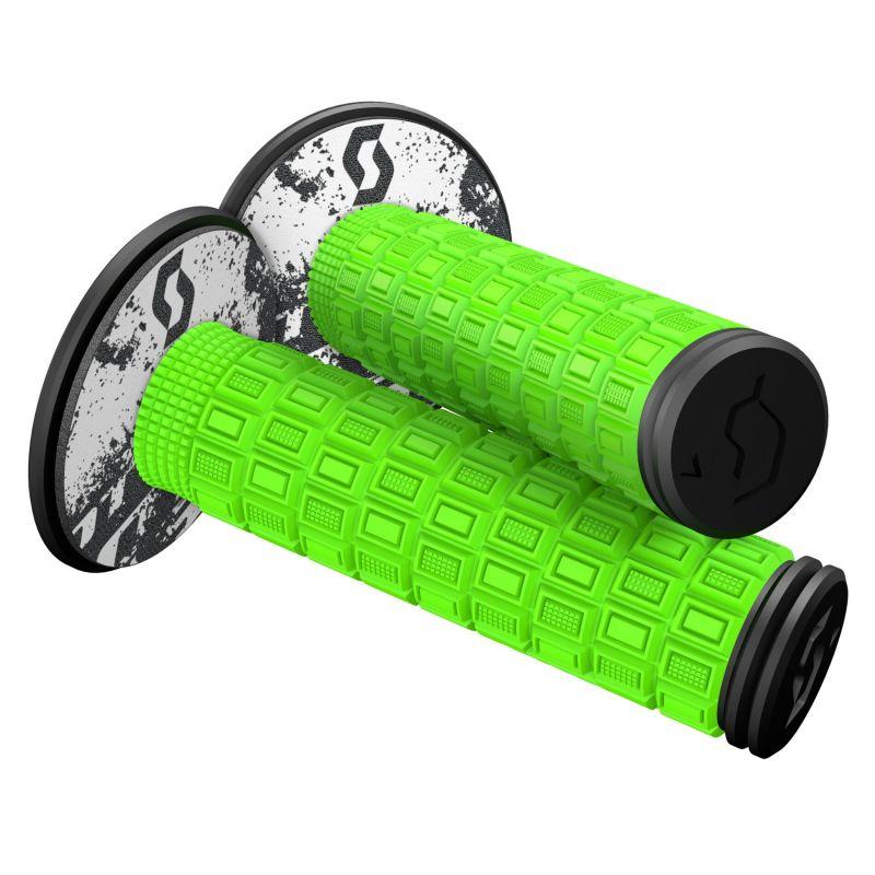 Revêtements de poignées Scott Mellow avec donuts vert néon/noir