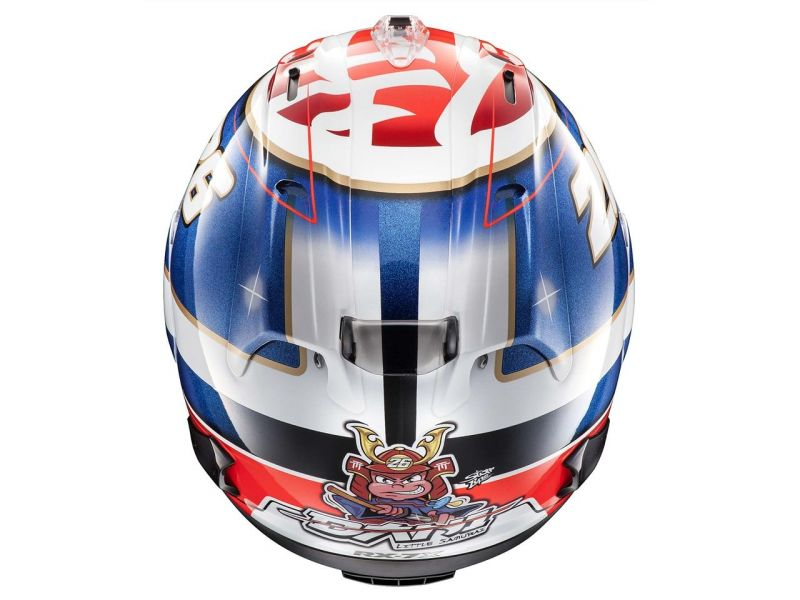 casque arai rx 7v pedrosa samura casques moto sur la b canerie. Black Bedroom Furniture Sets. Home Design Ideas