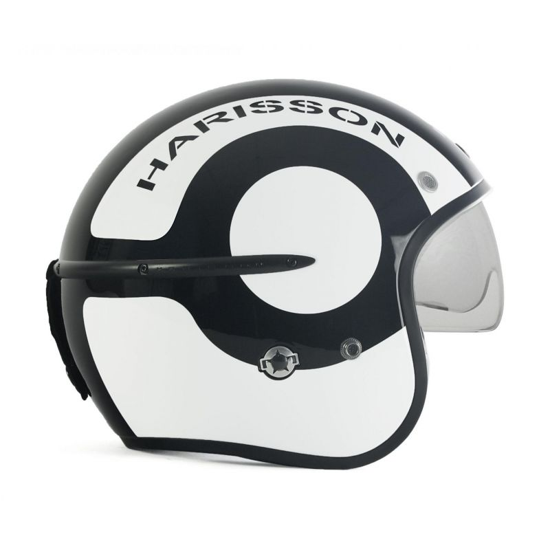 Casque jet Harisson Corsair Snooker noir/blanc - 4