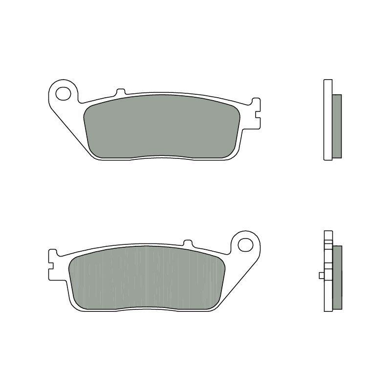 plaquettes de frein brembo 07098cc carbone c ramique arri re pi ces freinage sur la b canerie. Black Bedroom Furniture Sets. Home Design Ideas