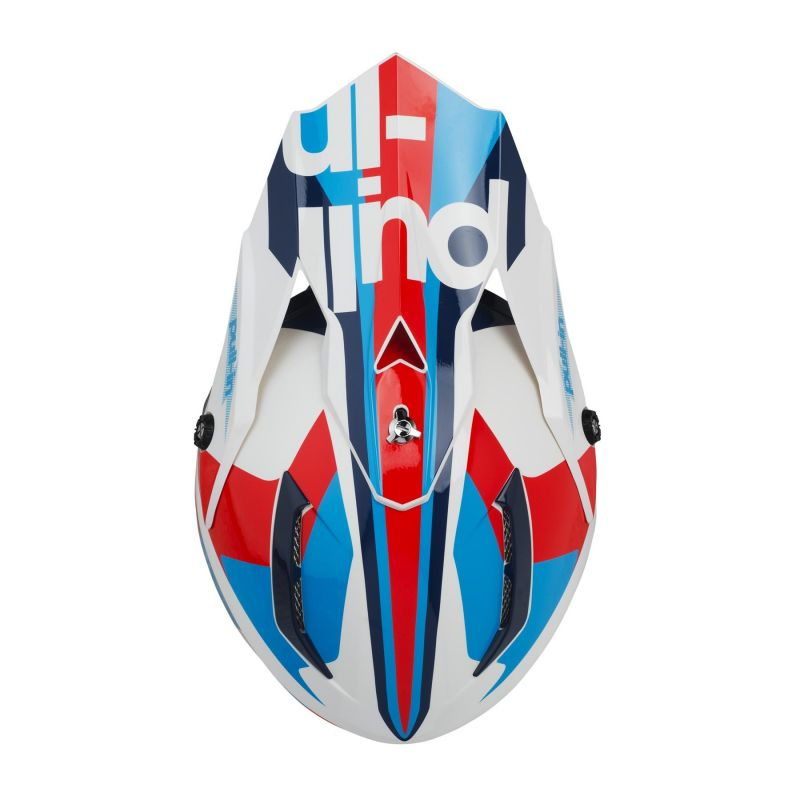 Casque cross Pull-in Race navy/rouge - 2