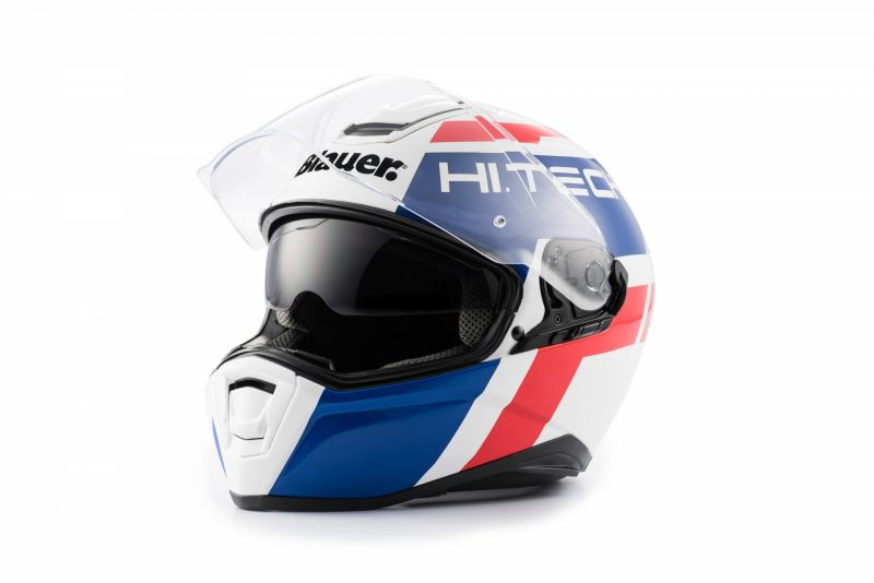Casque Blauer Force One 800 Blanc/Bleu/Rouge Brillant