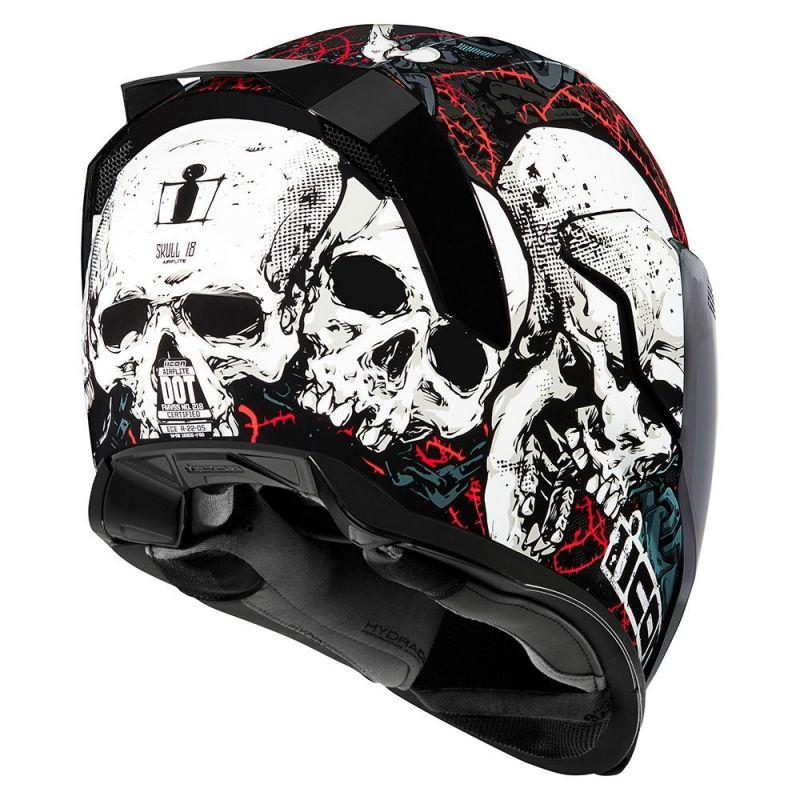 Casque intégral Icon Airflite Skull 18 noir/rouge - 1
