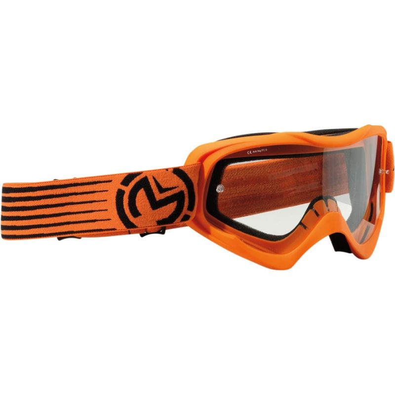 Masque cross enfant Moose Racing QUALIFIER SLASH orange/noir