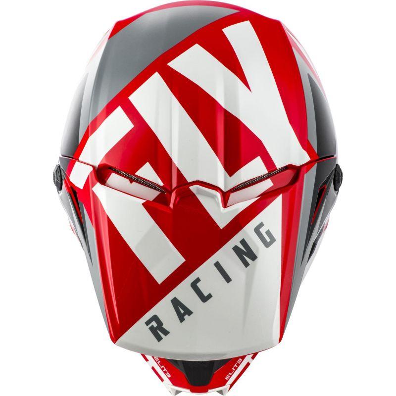 Casque cross Fly Racing Elite Vigilant rouge/noir/blanc - 2