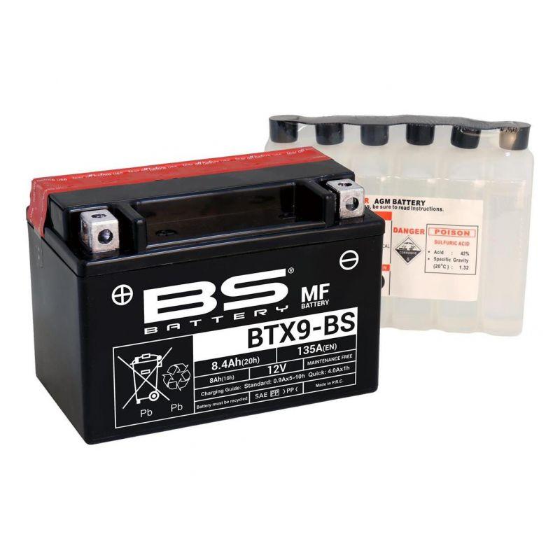 Batterie BS Battery BTX9-BS 12V 8Ah MF avec pack acide