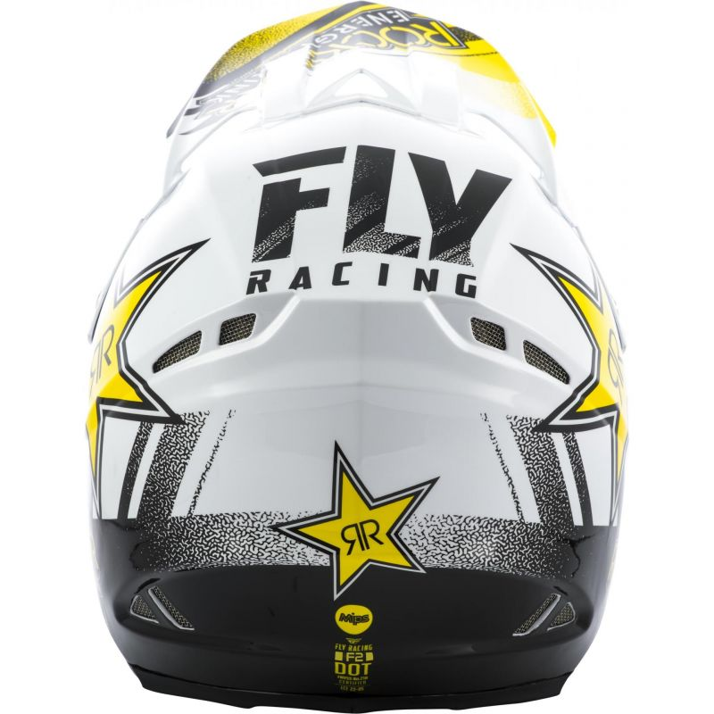 Casque cross Fly Racing F2 Rockstar noir/blanc - 3
