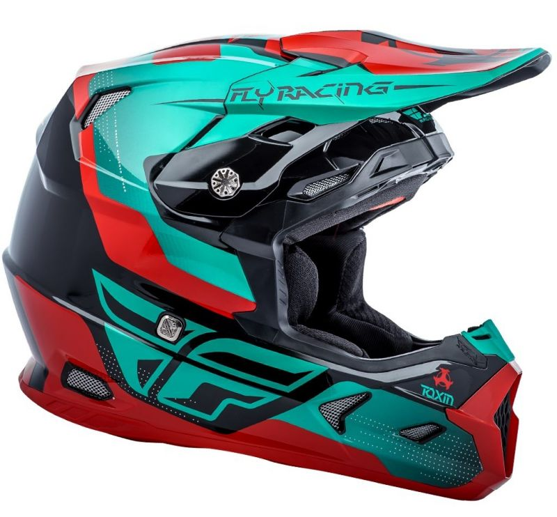 Casque cross Fly Racing Toxin rouge/bleu/noir - 1