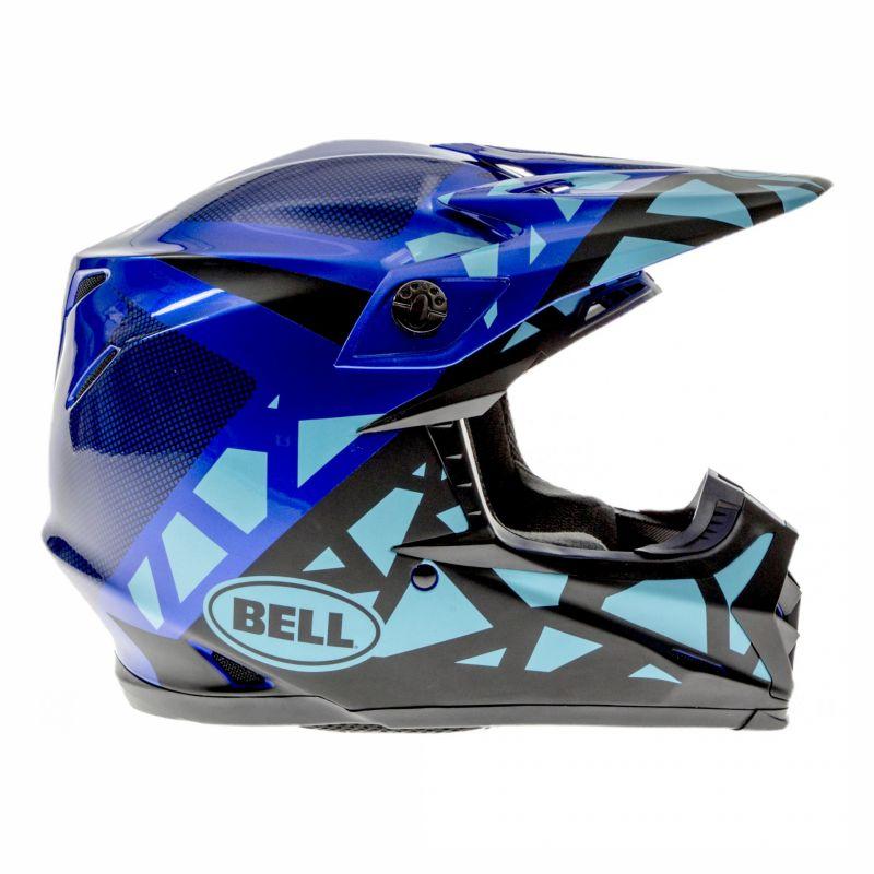 Casque cross Bell Moto-9 Mips Tremor bleu/noir - 2