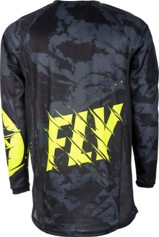 Maillot cross Fly Racing Kinetic Outlaw noir/jaune fluo - 2