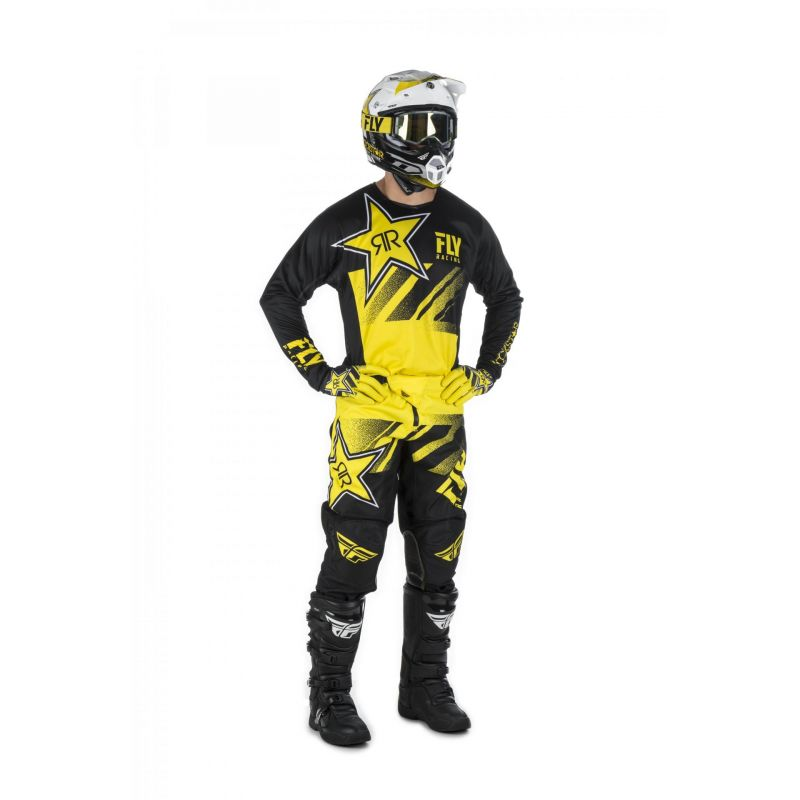 Maillot cross Fly Racing Kinetic Rockstar jaune/noir - 2