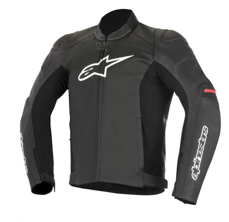 blouson cuir alpinestars sp 1 noir rouge quipement route sur la b canerie. Black Bedroom Furniture Sets. Home Design Ideas