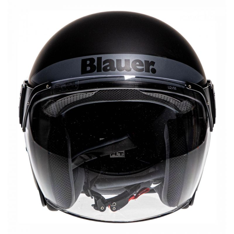 Casque jet Blauer POD Stripes noir/blanc/titane mat - 3