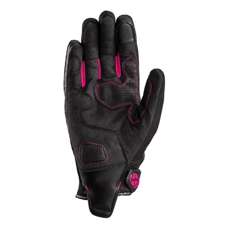 Gants textile femme Ixon RS Spring L noir/fushia - 1